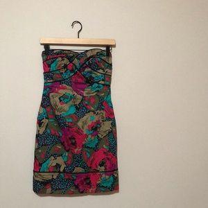 ASOS Strapless Floral Dress
